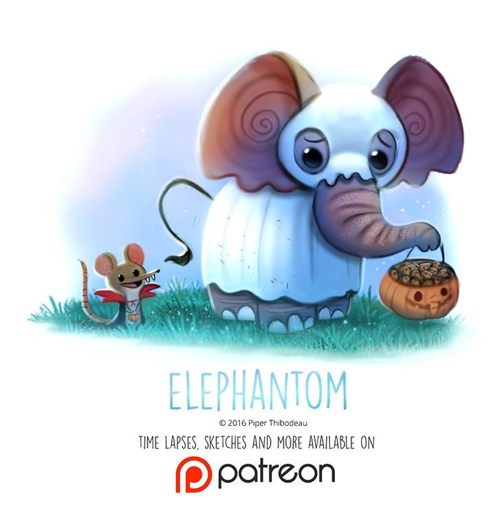 Day 1434. Elephantom - piperthibodeau | ello