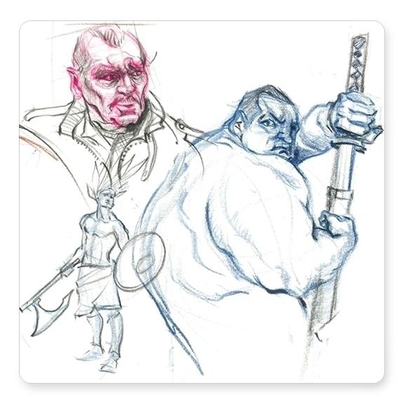 character studies drawn Quick P - dkelmer | ello