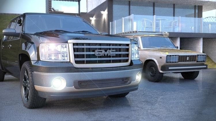 gmc - coronarender, car, blac - artemroy | ello