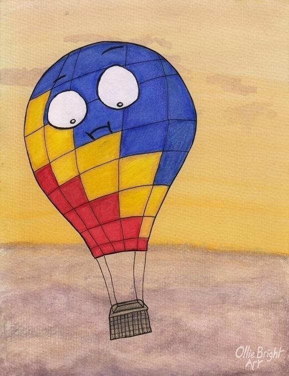 Balloon - hot, air, balloon, sky - olliebright   ello