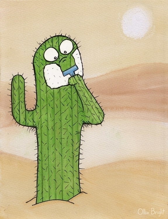Shaving Cactus - humor, humour, funny - olliebright | ello