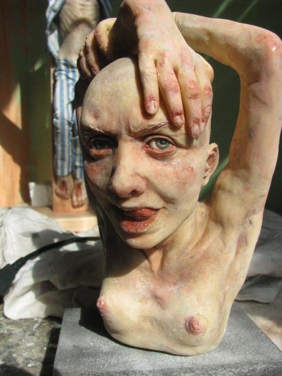 Polymer clay bust. 15 cm - sculpture - salix-2838 | ello