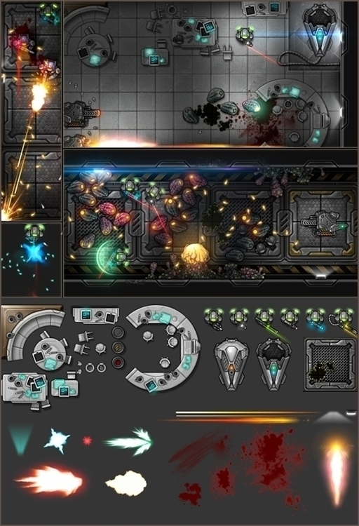 2013 Assets screenshot game dev - yarongranotart | ello