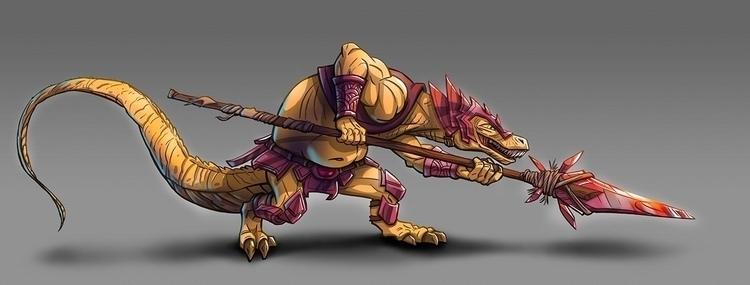 Lizard guard - characterdesign, conceptart - jeebah | ello