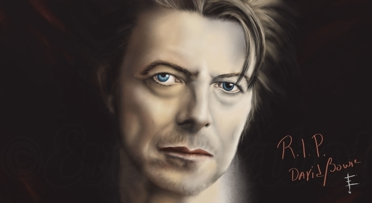 David Bowie (Speed painting) Me - evechabot | ello