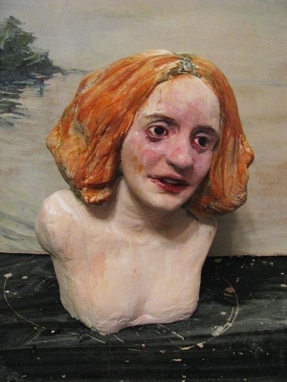 Sculpture, plaster, 55 cm - bust - salix-2838 | ello