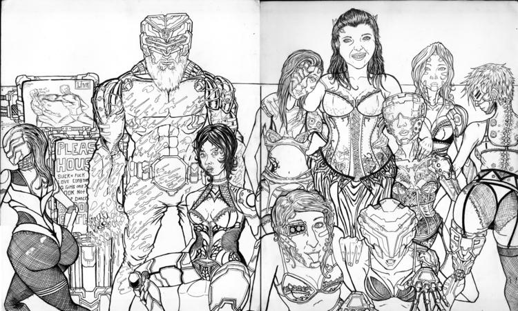 illustration, drawing, ink - cosmickaleidoscope | ello