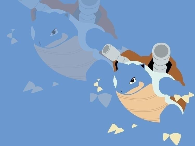 Blastoise Minimalist Vector - illustration - jessicaredmond | ello