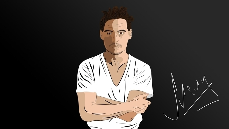 Djonny Depp vector illustration - mark_melnik | ello