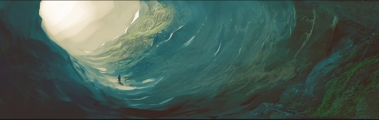 Cave landscape practice - illustration - bassim   ello