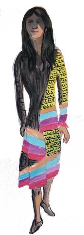 figures, acrylic paper - Dress - frankcreber | ello