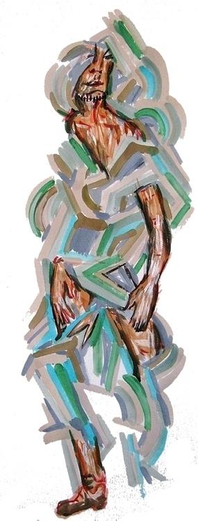 figures, acrylic paper - Smoke - frankcreber | ello