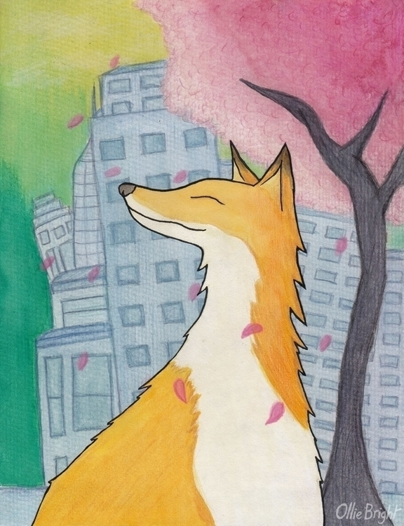 Urban Fox - urban, fox, cute, cartoon - olliebright | ello
