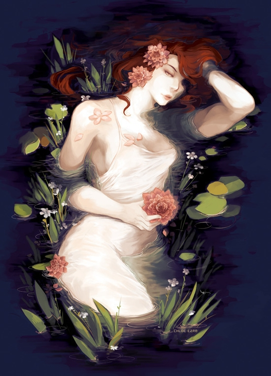 Pond Witch - illustration, digitalart - cezra | ello
