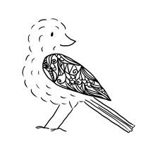 bird, pattern, illustration, pen - laurabuckland | ello