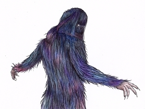 Rainbow Bigfoot - illustration - thecreativefish | ello