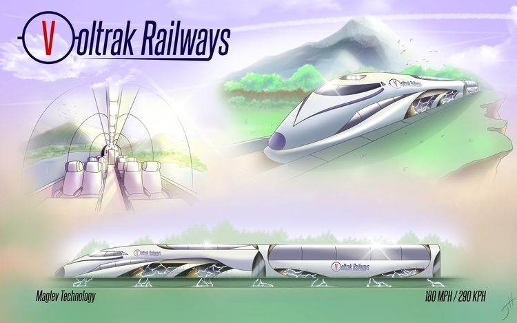 Voltrak Railways - vehicledesign - fxscreamer | ello