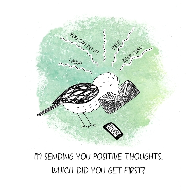 Positive thoughts - illustration - laurabuckland | ello