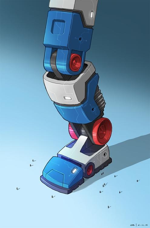 School Robot Leg - ahmedgamal-3942   ello