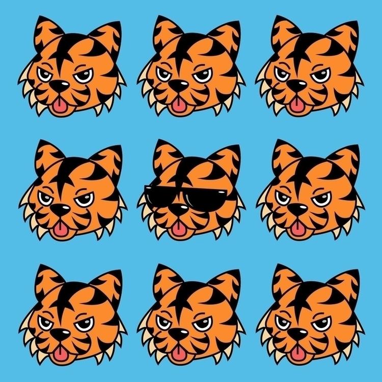 Faces Tamale Tiger - vector, vectorart - jessicaredmond | ello