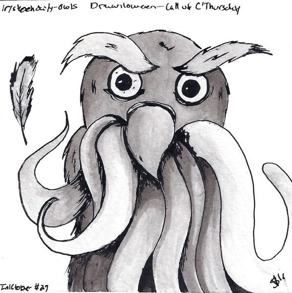 - Owls Call Inktober - Drawlloween2016 - svaeth | ello