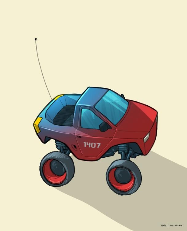 Red Blue RC Car - ahmedgamal-3942 | ello