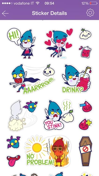 vampire, chat, stickers, sticker - tokyocandies-1186 | ello