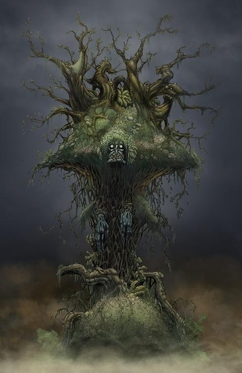 Swamp Witch - gameart, gamedev, conceptart - tommcweeney   ello