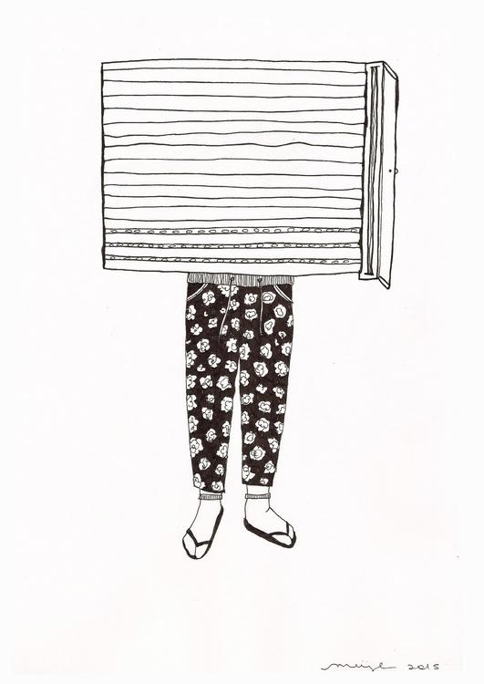 cerrado por reformas - legs, illustration - flormeije | ello