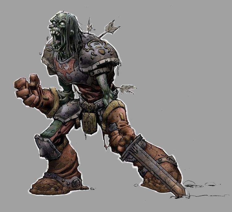 Zombie 1 - gameart, gamedev, creature - tommcweeney | ello