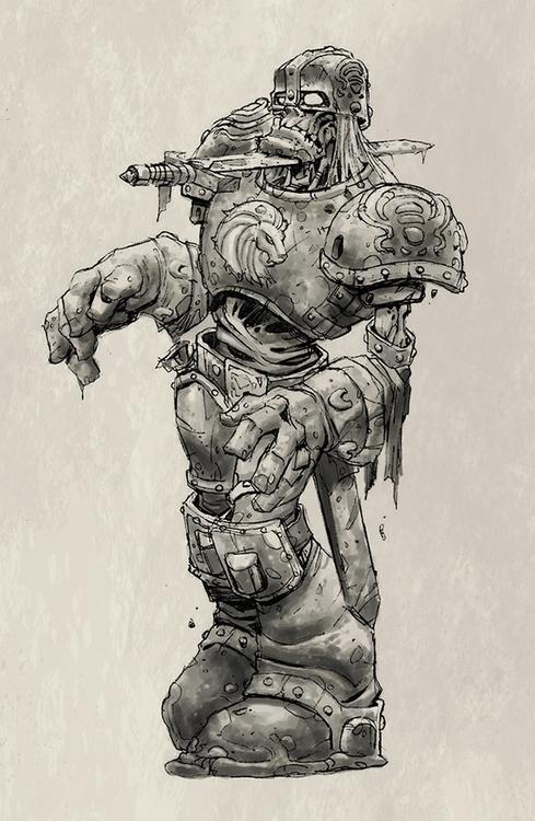 Zombie 3 - gameart, gamedev, conceptart - tommcweeney | ello