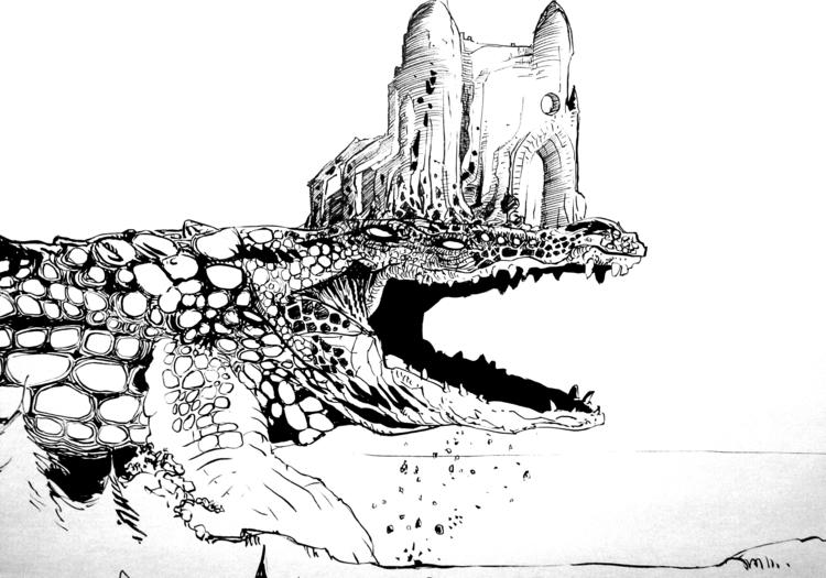 Giant Series 002 - drawing - smallspacesnail | ello