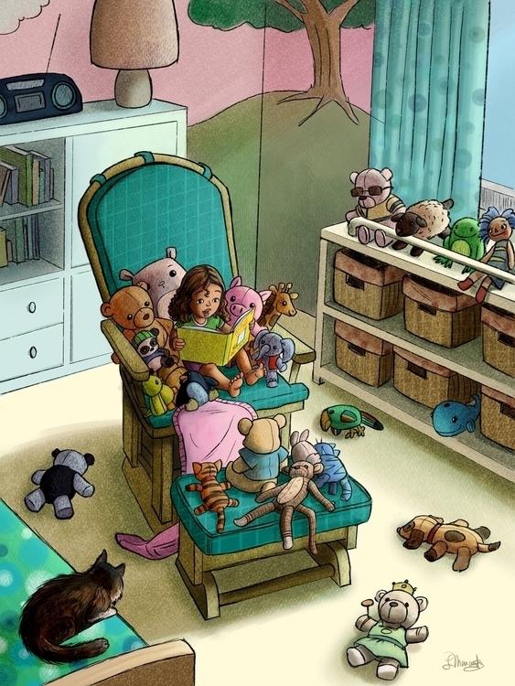 Storytime - illustration, kidlitart - larissamarantz | ello