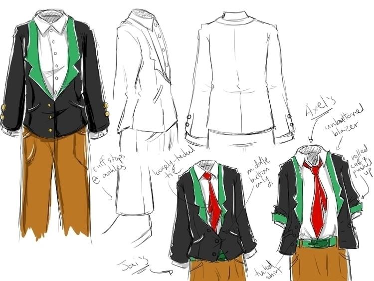 School uniform model sheet Harm - aelita_6225 | ello