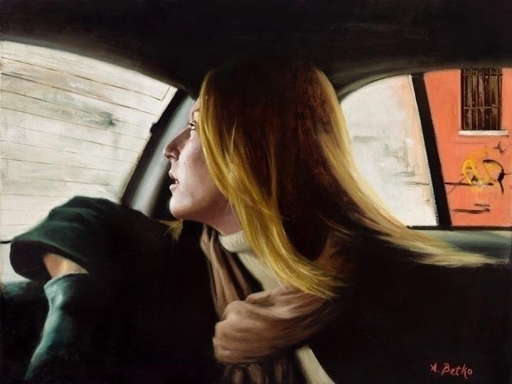 Breathe 18 24 Oil Linen - painting - abetko76 | ello