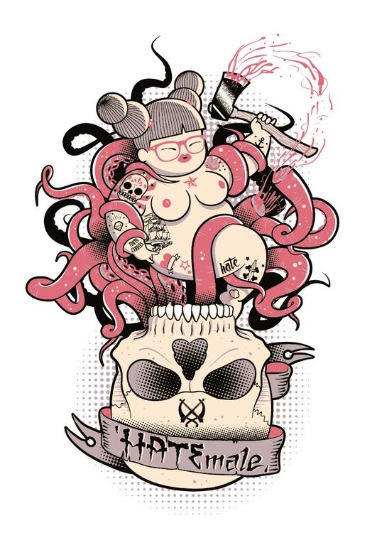 chubby, naked, girl, tattoo, tentacles - tokyocandies-1186 | ello