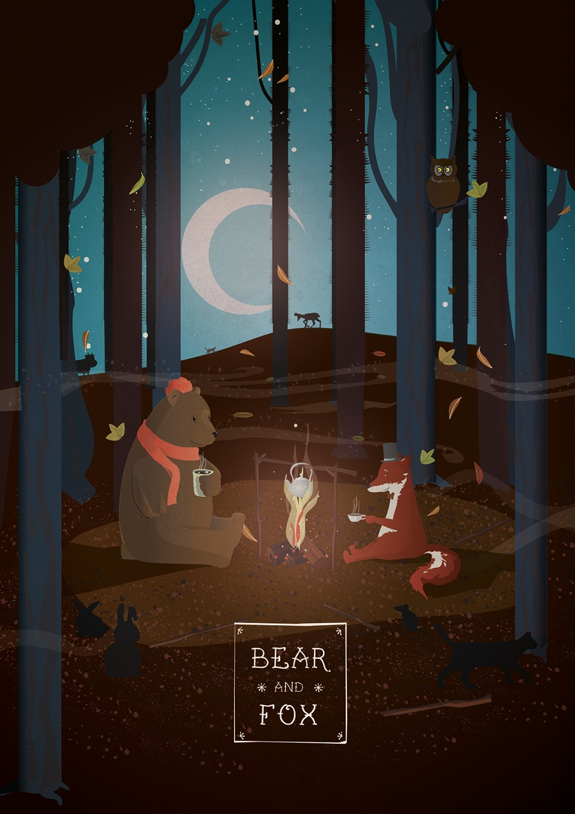 Vector illustration Bear Fox wo - jonatanbendixen | ello