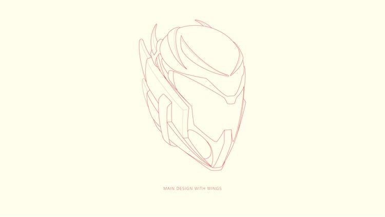 Helmet concept wings - illustration - babyeyez | ello