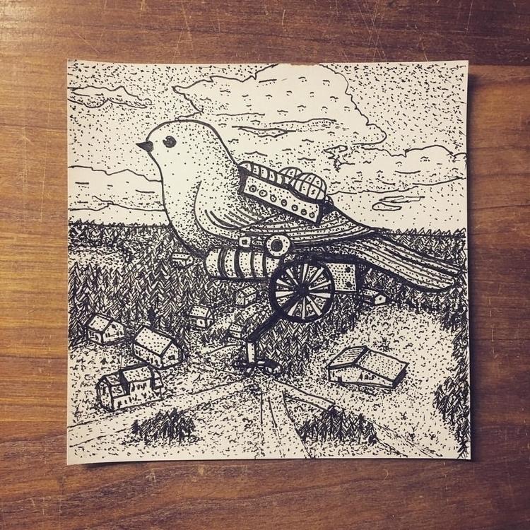 Bird - illustration, drawing - snarlik | ello