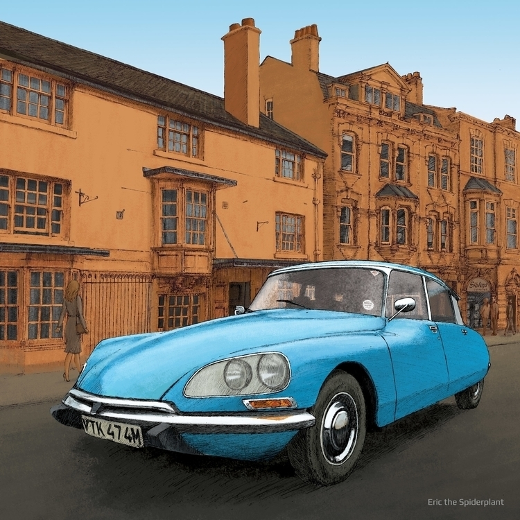 Citroen DS - #illustration, classic - dannybriggs | ello