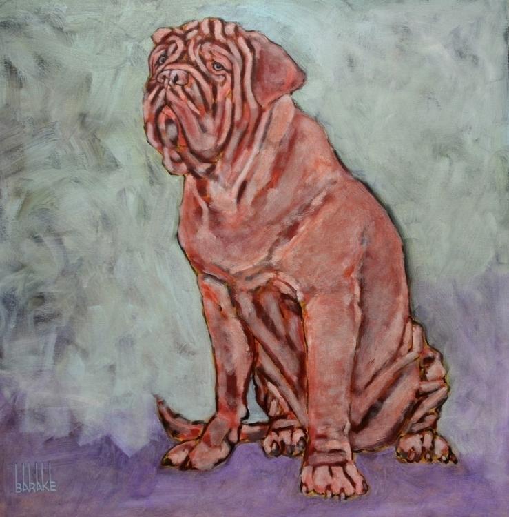 CHIEN DE BORDEAUX - painting, dogs - barakesculptor | ello