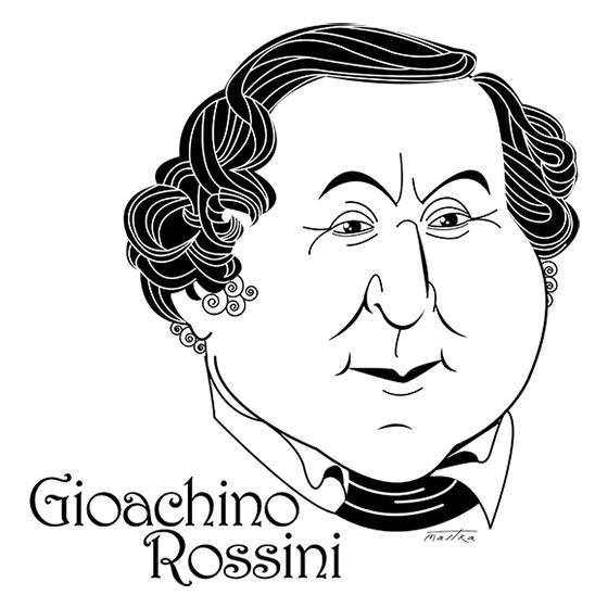 Gioachino Rossini - rossini#illustration#drawing#design#typography#music#musicians#blackandwhite#lineart#maestro - mastra | ello