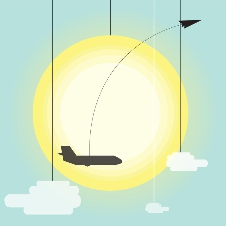 Sky - sky, vector, digitalart, sun - steve-2038 | ello