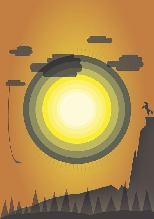Wild West - sunset, western, sun - steve-2038 | ello