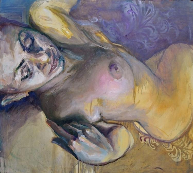 Dreaming purple, oil canvas, 12 - suzanadzelatovic | ello