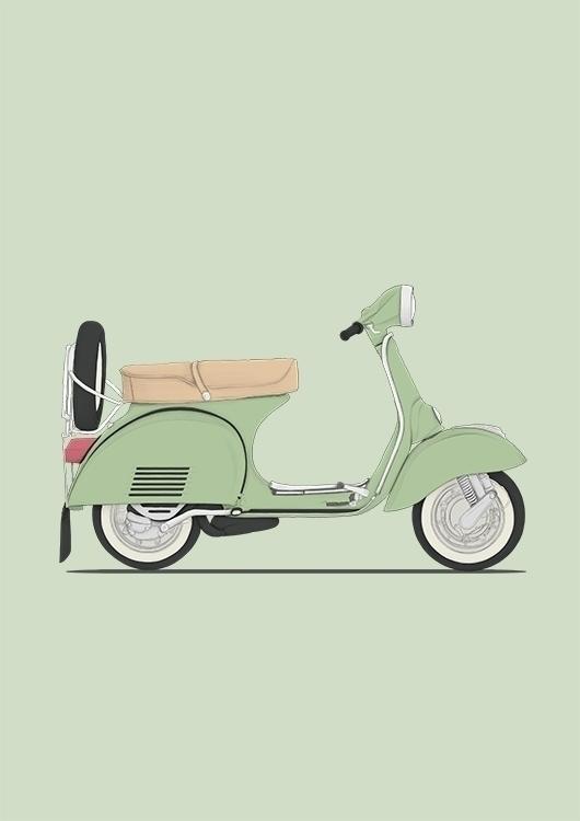 poster vespa - classic, illustration - poposter | ello