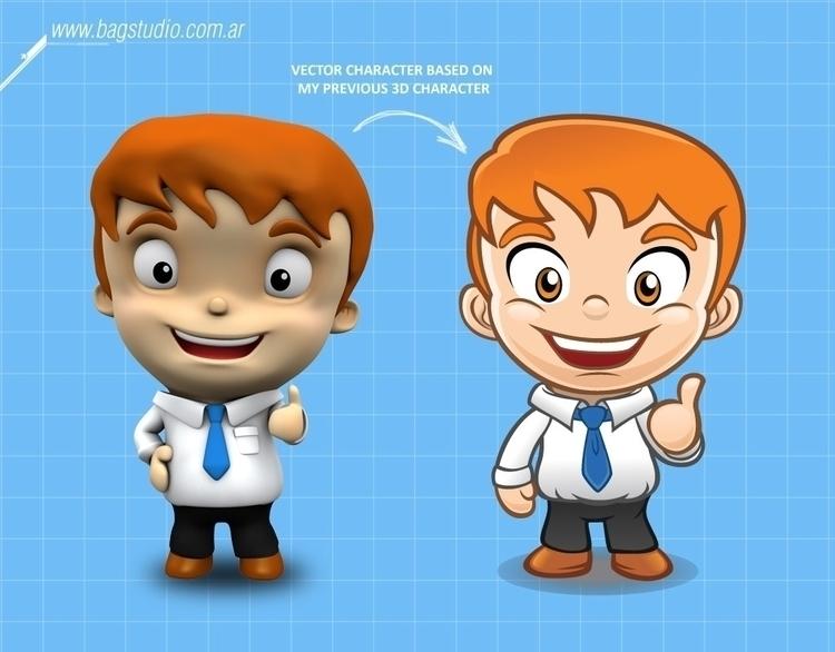 Businessman cute character - characterdesign - bagstudio | ello