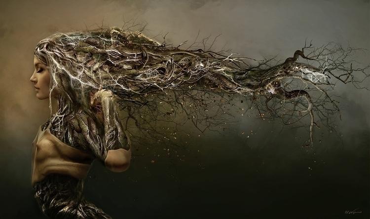 Balanis nymph - illustration, painting - magdawozniak | ello