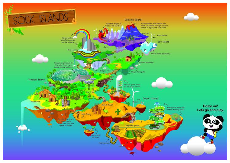 Sock Islands Version final illu - sambarori | ello