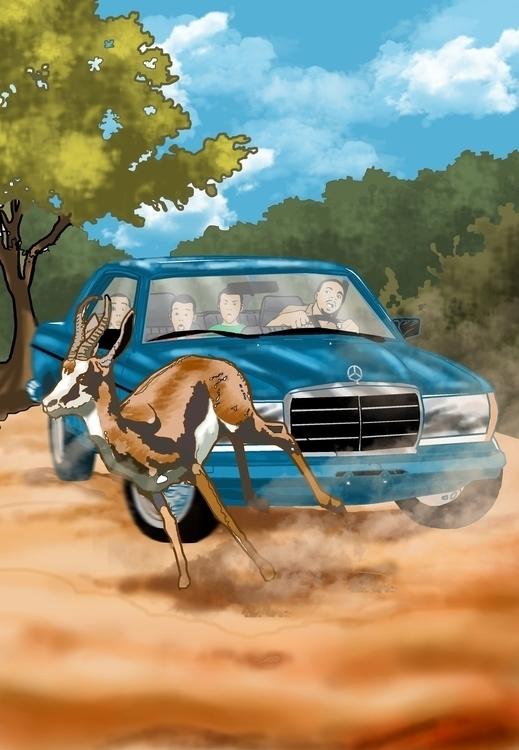 visit zoo - illustration, bookcover - sunnyefemena | ello